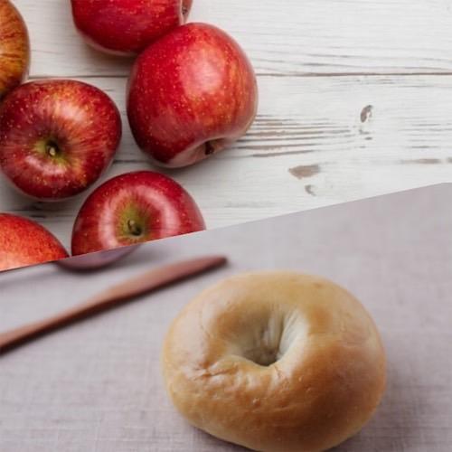 りんごとベーグル